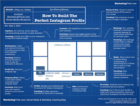 Gerry Moran shows how to build the perfect Instagram profile.